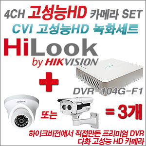 [EVENT] [CVI HD] DVR-104G-F1 4CH + HD 카메라 3개 SET